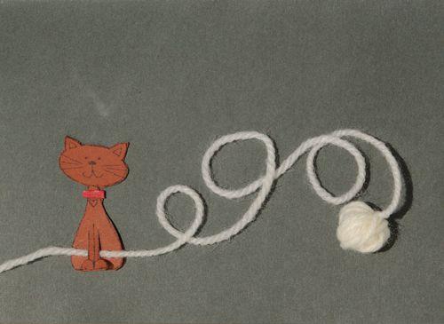 Cat and Yarn