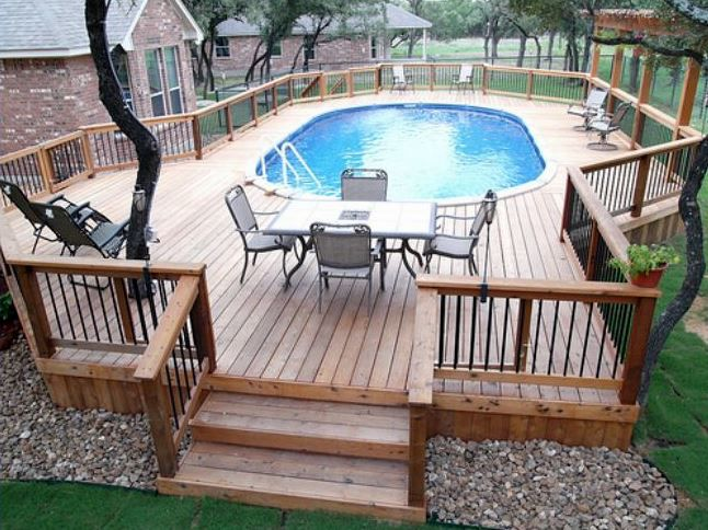 enclosed above ground pool - Above Ground Pool Deck