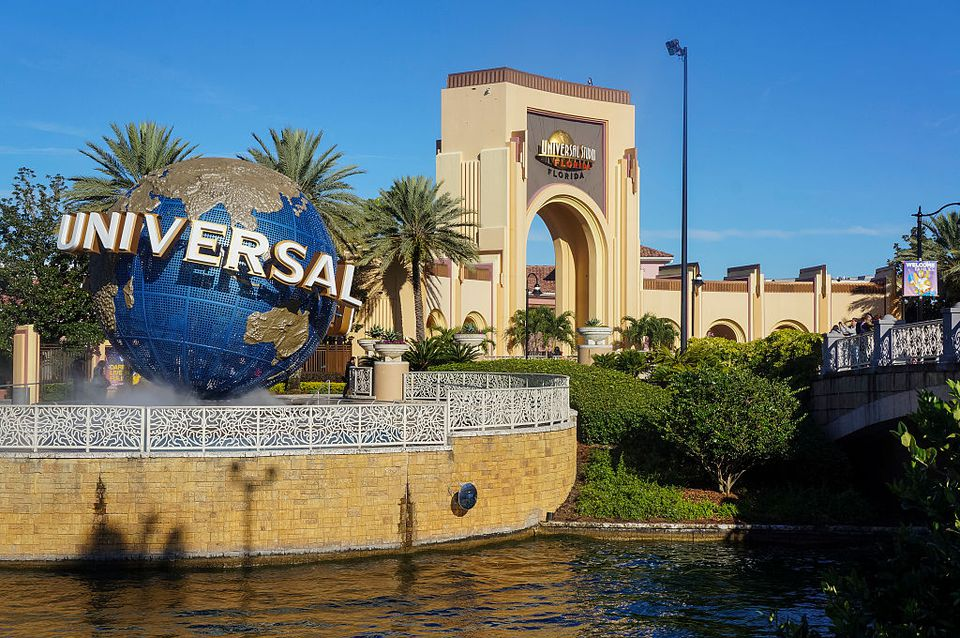 The entrance of Universal Studios is seen in Orlando, Florida, January 12, 2016.