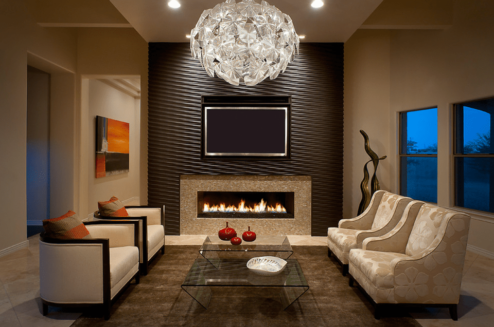 Textured Living Room Accent Wall. Textured Accent Wall