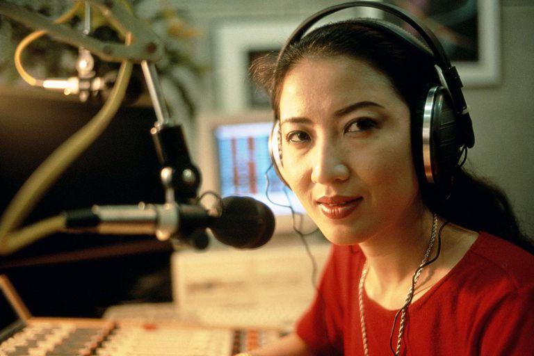 radio station operator at work