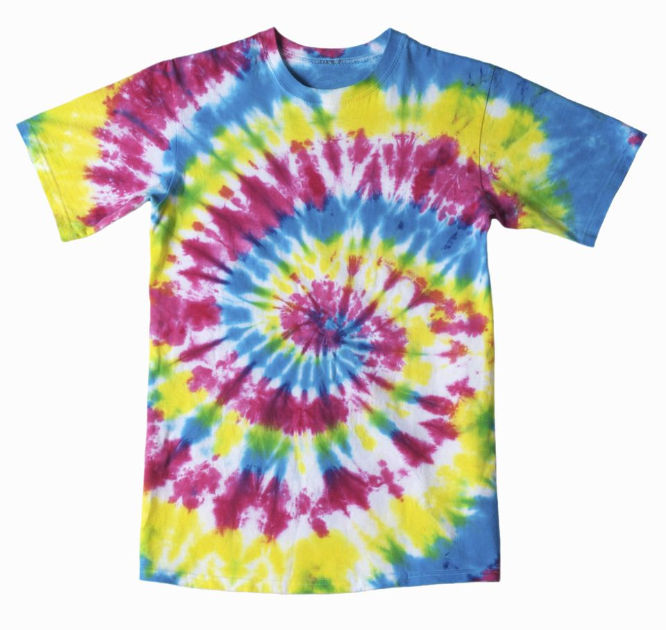 Tie-dye t-shirt with spiral design