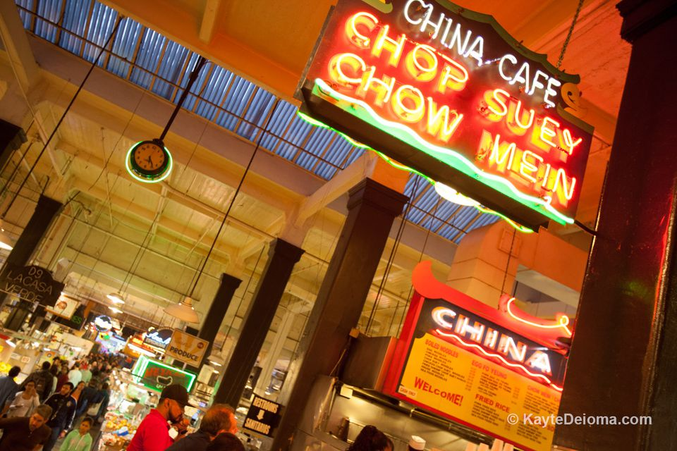China Cafe at Grand Central Market in Los Angeles