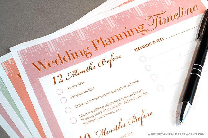Wedding planning organization tips wedding planning timeline junglespirit Choice Image