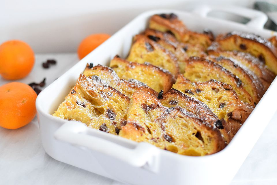 panettone french toast bake
