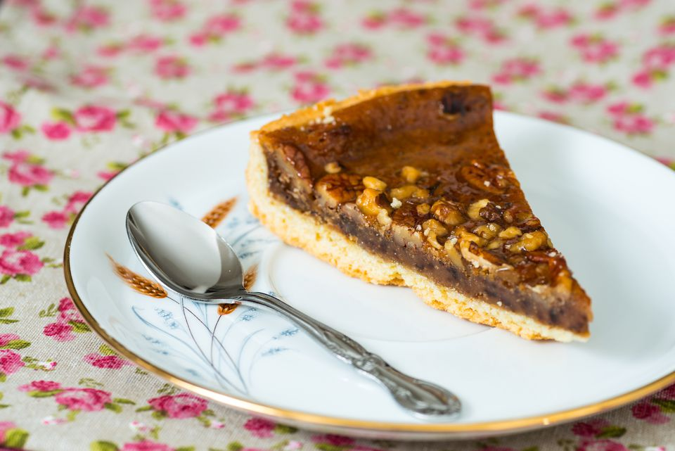 A slice of pecan pie.