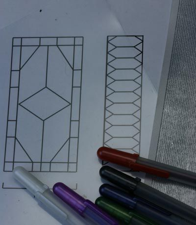 Make Stained Glass For A Dollhouse