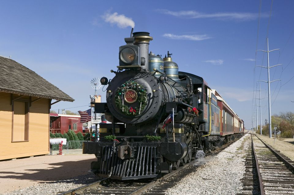 The Tarantula Railroad steam train in Grapevine, Texas