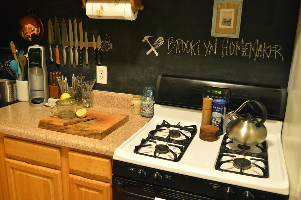 Chalkboard Paint Backsplash 13 removable kitchen backsplash ideas