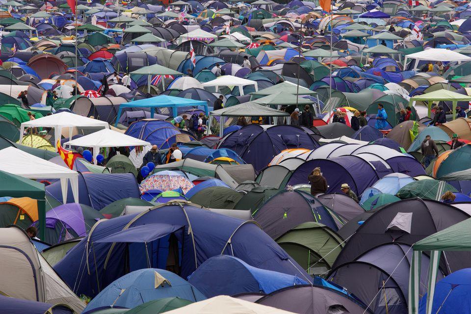 Glastonbury camping