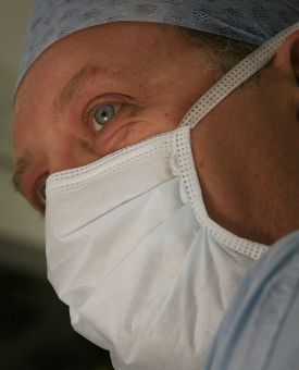 surgeon in mask image