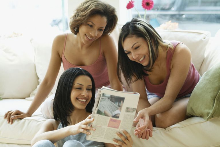 Women Reading Magazine Article