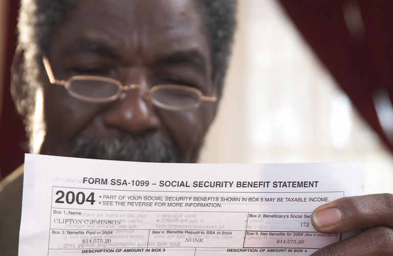 Social Security age on a statement.
