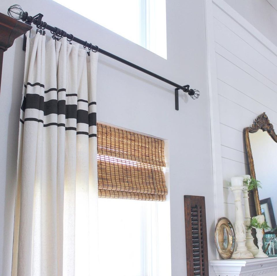 stripped curtains