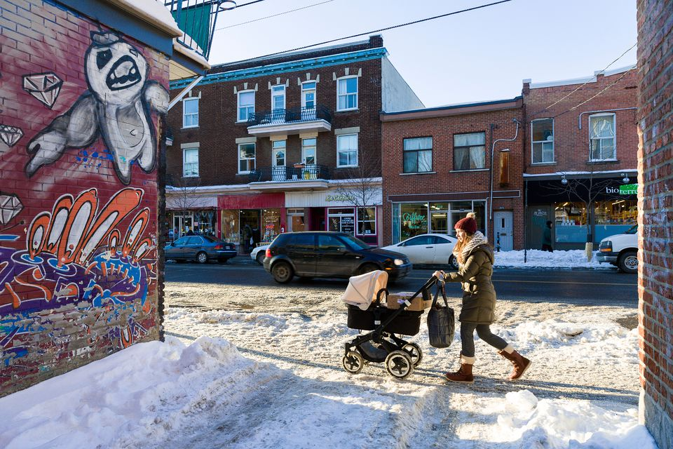 Montreal January weather is cold. But people still have an active lifestyle.