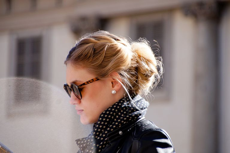 Woman with an updo