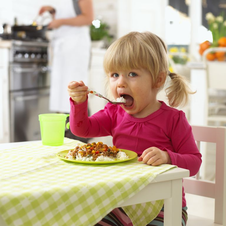 True self-weaning begins when a child is getting her nutrition from solid foods and becoming more independent.