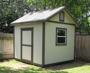 A simple backyard shed.