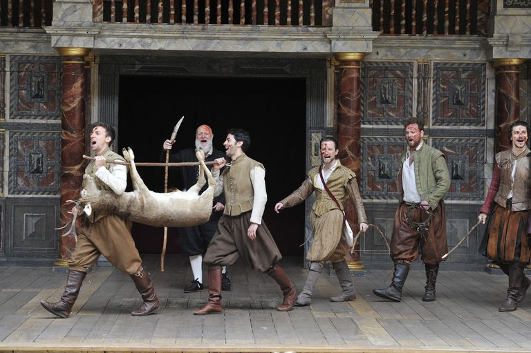 UK - William Shakespeare's As You Like It directed by Blanche McIntyre at Shakespeare's Globe Theatre in London.