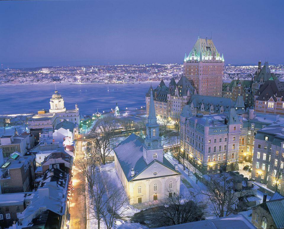 Aerial view Quebec City