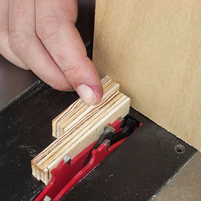 Adjusting the Box Joint Jig