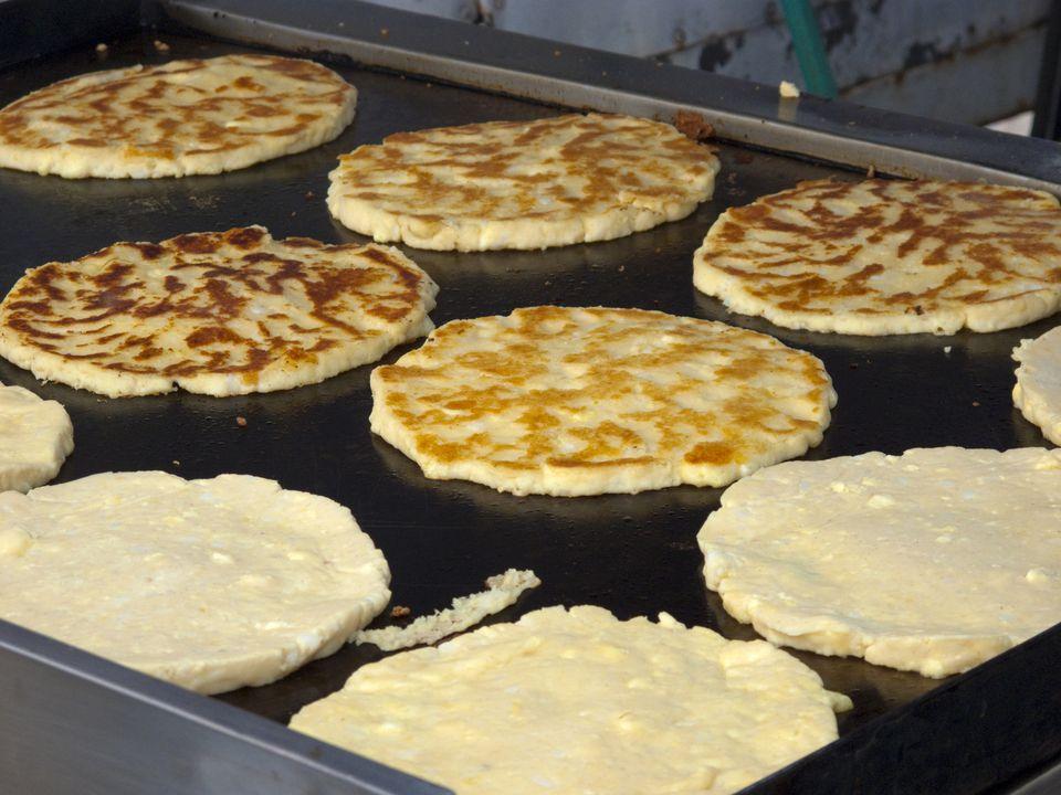 Fried cornmeal pancakes