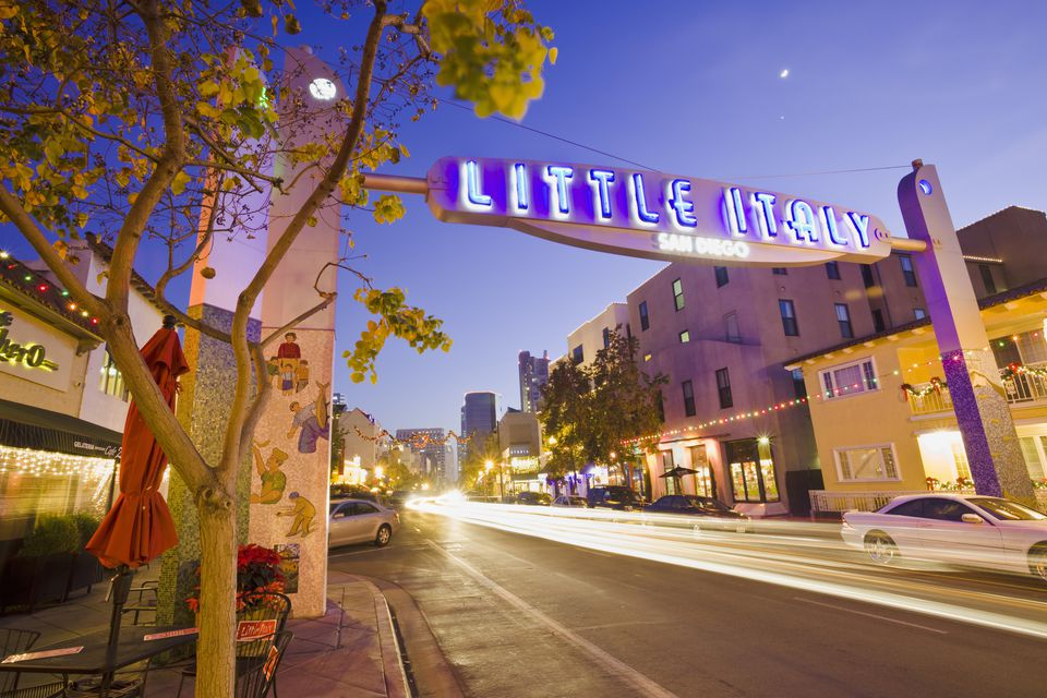 Little Italy Neighborhood of San Diego