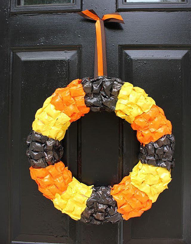 DIY Halloween Candy Wreath