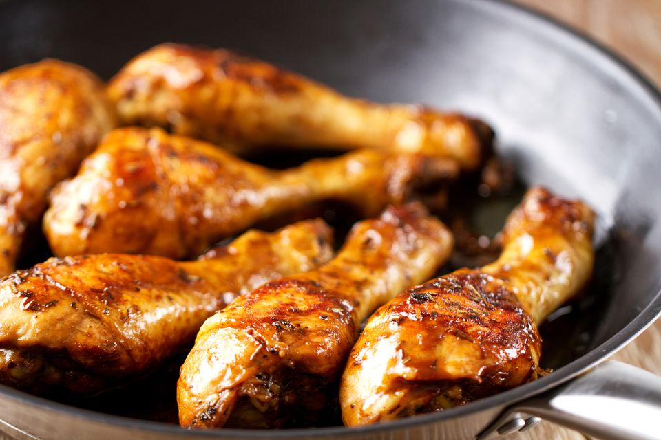 Baked Glazed Chicken Pieces