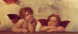 Detail - Raphael Sistine Madonna