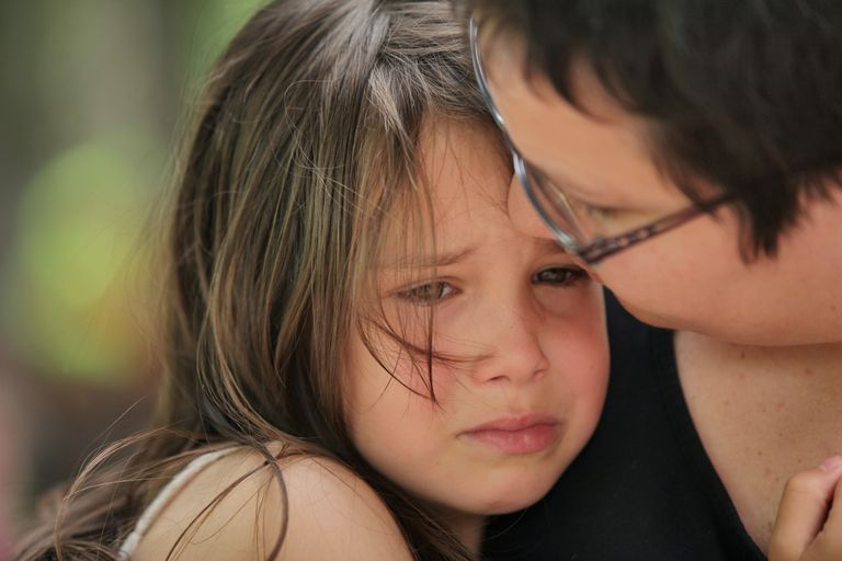 Woman and Crying Child