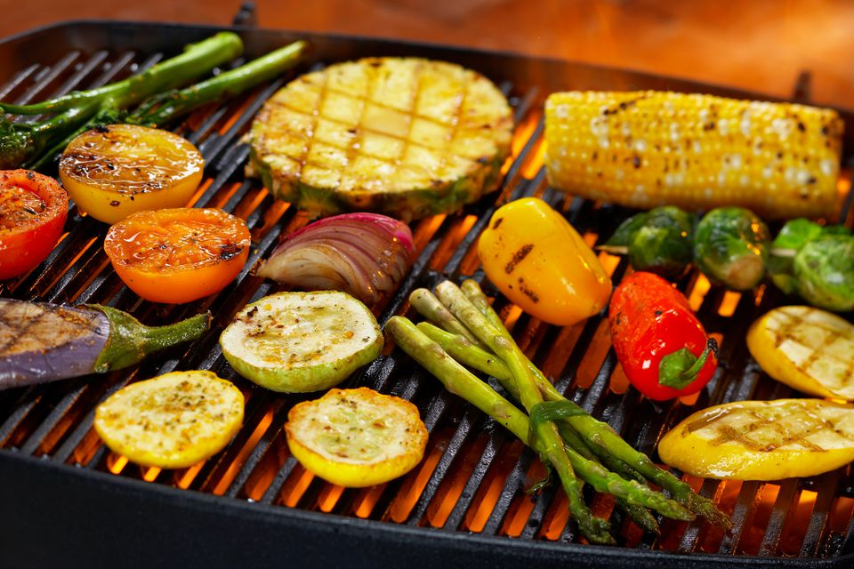 Dry heat cooking: veggies on the grill