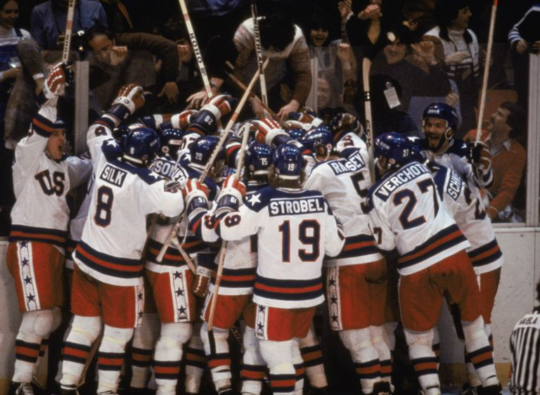 Team USA celebrates 'the Miracle on Ice'