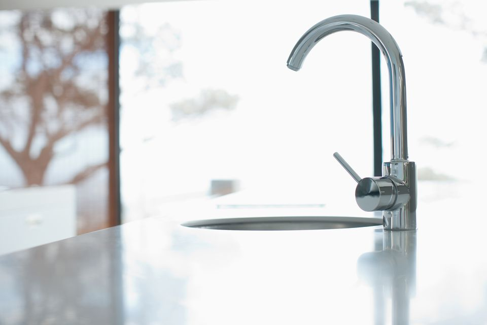 Kitchen faucet in modern home