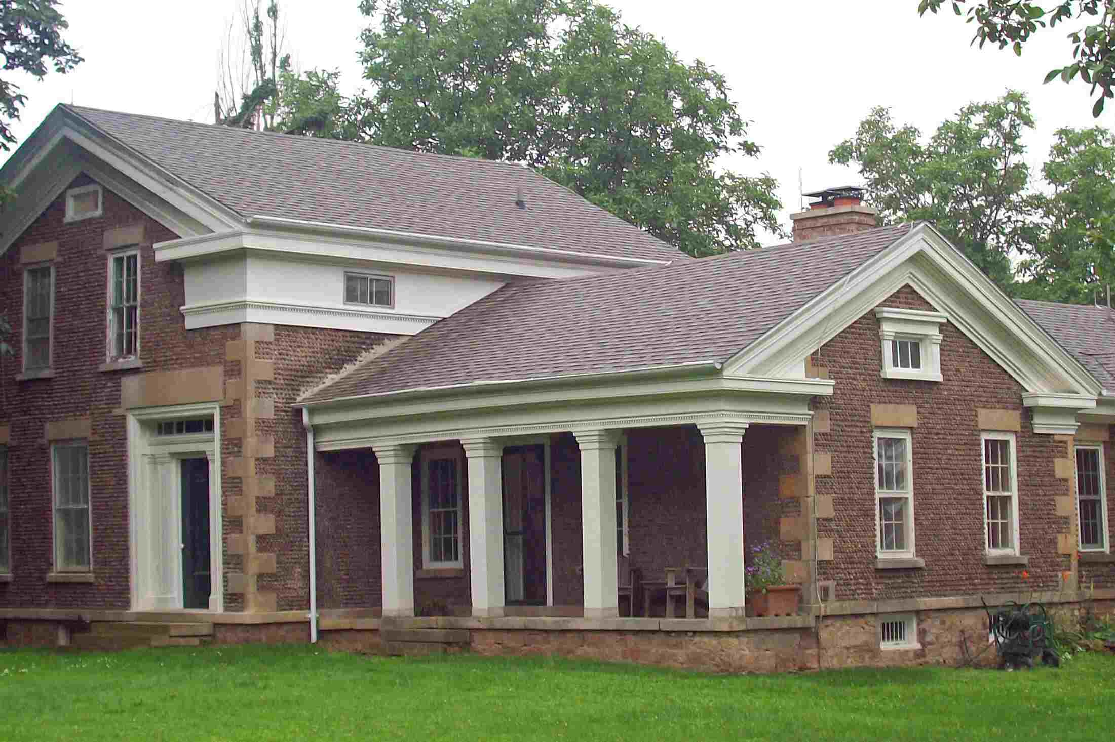 about the cobblestone houses in new york and other states