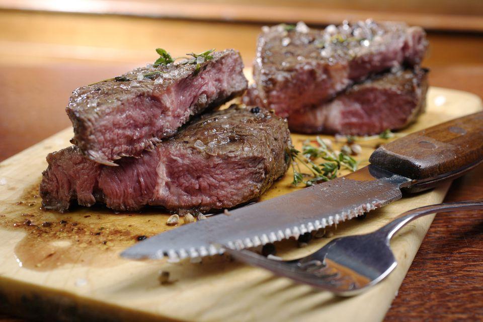 blade steaks on cutting board