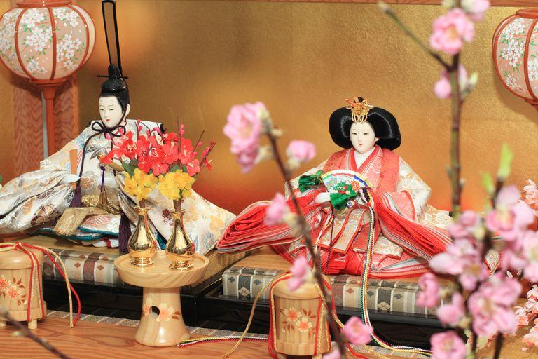 Dolls on display for Hinamatsuri Doll Festival