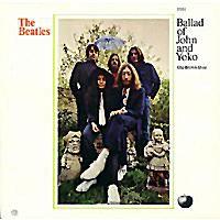 "The original US 45 sleeve for ""The Ballad Of John And Yoko"""