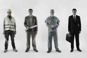 Man choosing a career