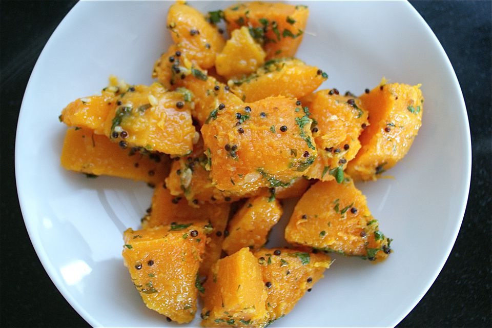 Butternut Squash Stir-Fry With Mustard Seeds