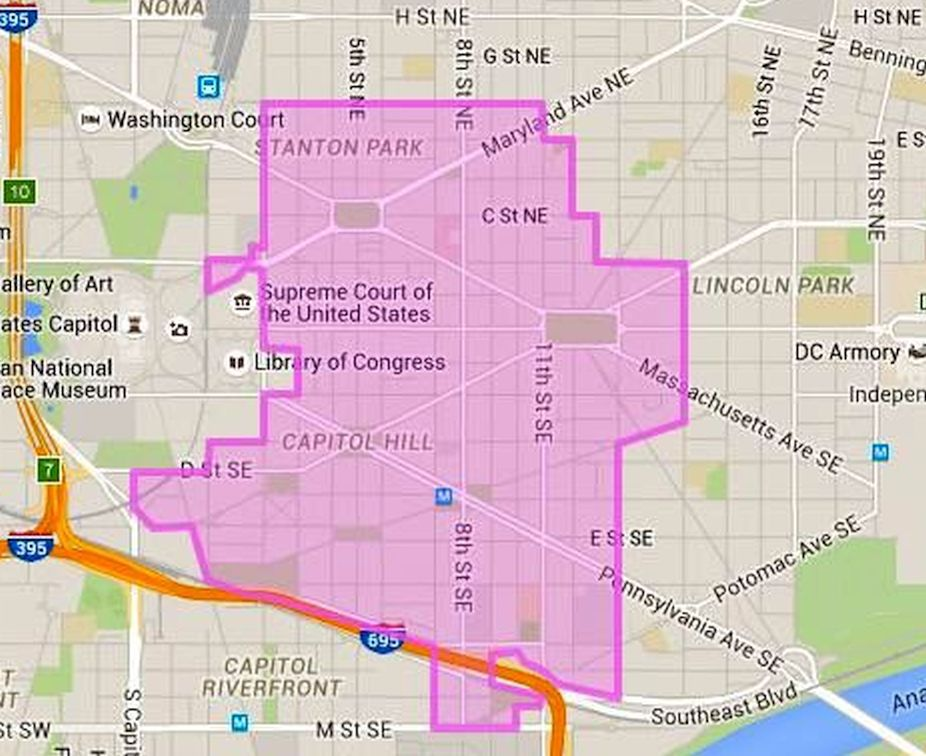 Where is Capitol Hill in Washington