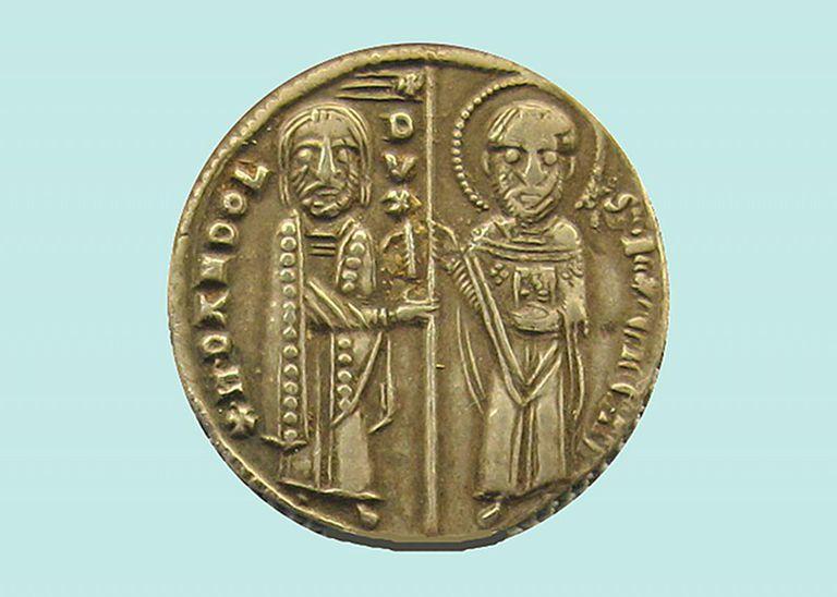 Venetian grosso depicting Enrico Dandolo
