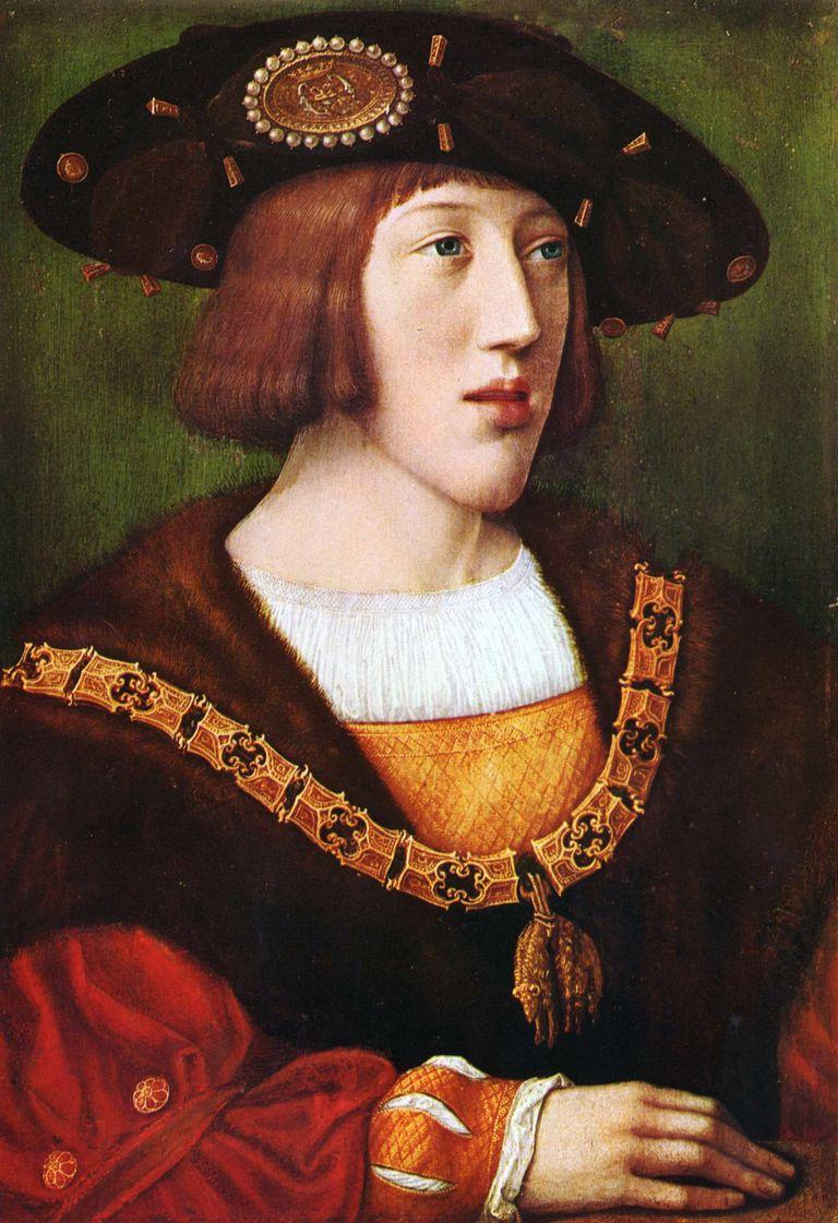 Portrait of Charles V, Holy Roman Emperor (1500-1558) by Bernaerd van Orley