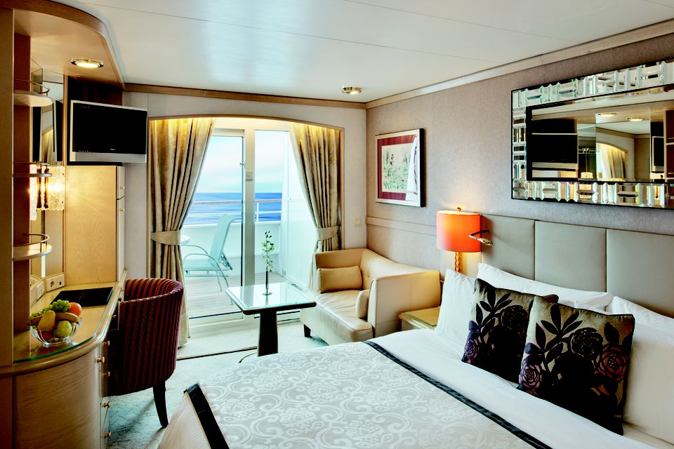 Crystal Symphony Cruise Ship Cabins And Suites - Stateroom on a cruise ship