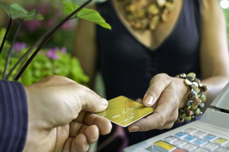 Retail credit card transaction