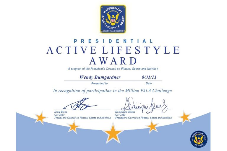 Presidential Active Lifestyle Award