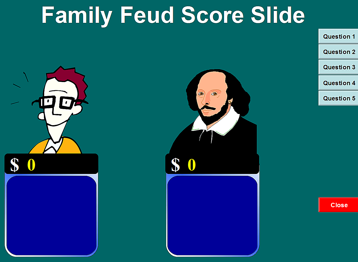 6 free family feud powerpoint templates for teachers, Presentation templates