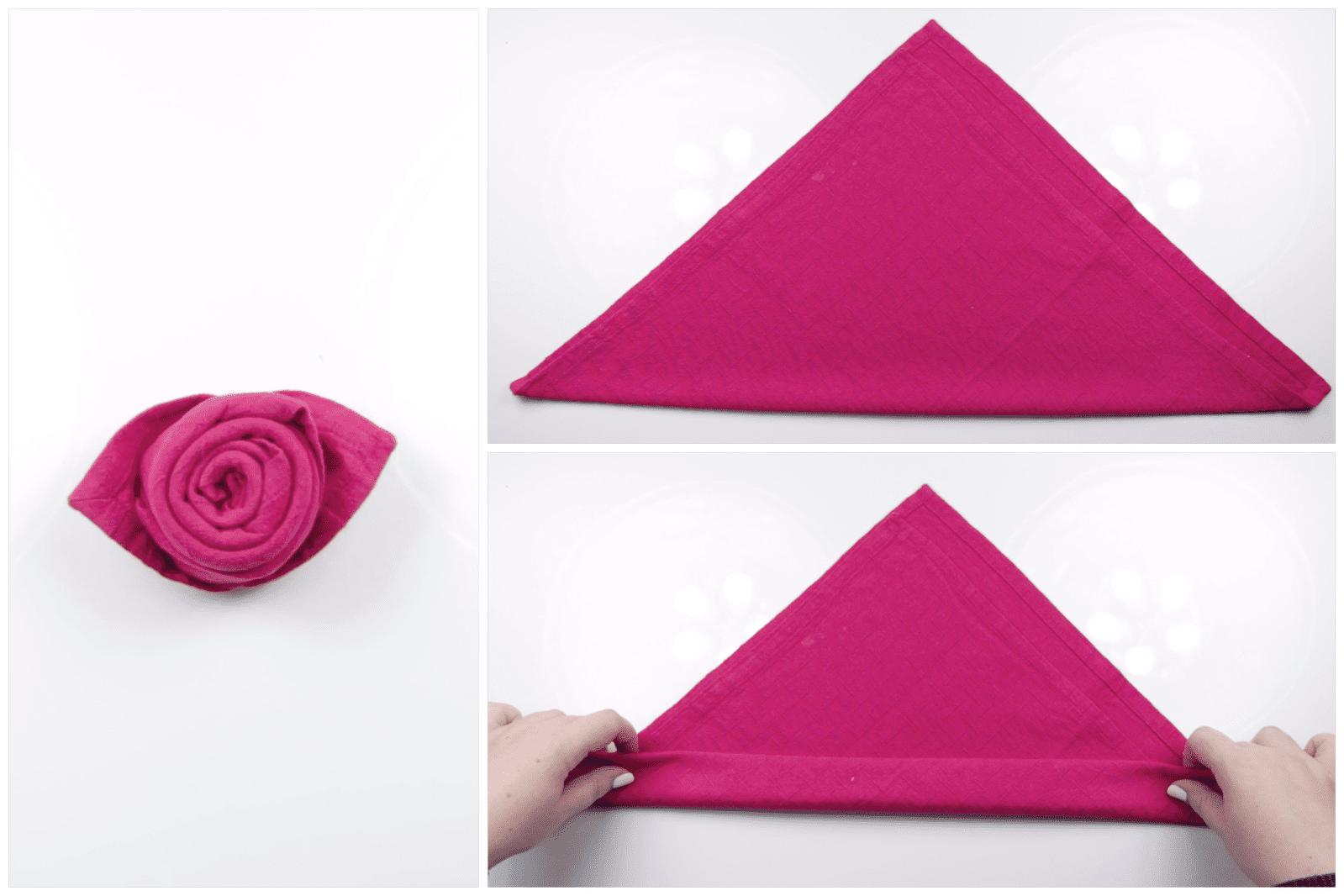 Origami napkin flower gallery flower decoration ideas how to make a beautiful origami napkin rose mightylinksfo mightylinksfo