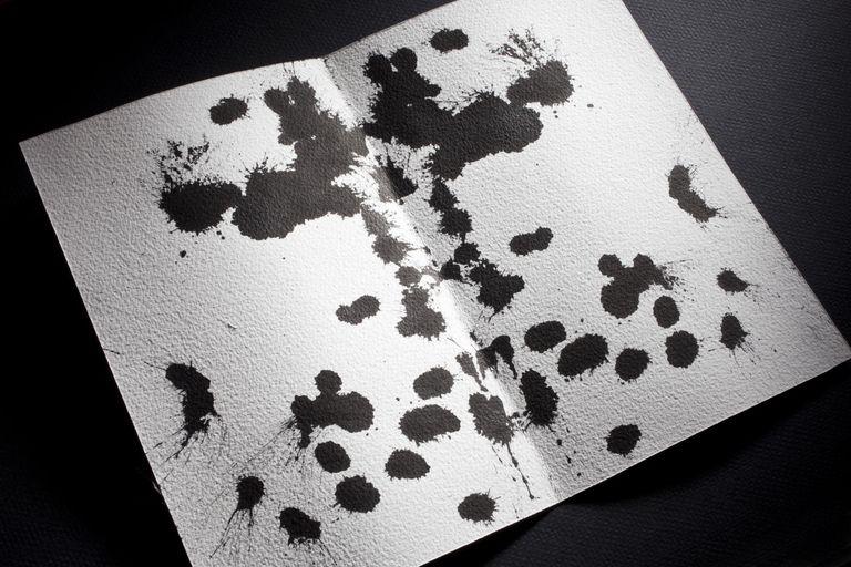Rorschach Test, black ink