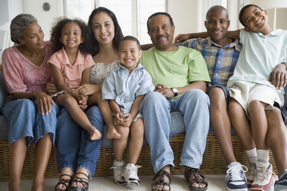 multi-generation African American family